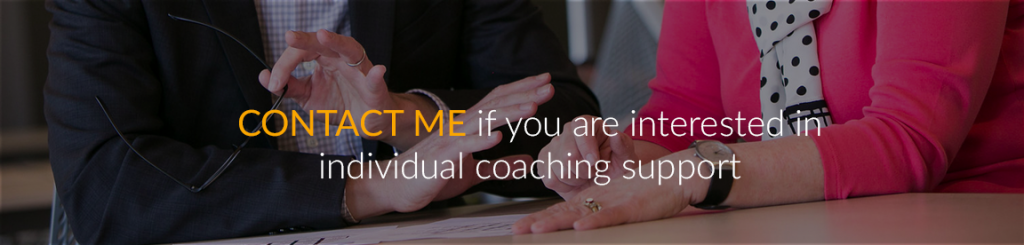 Contact me if you are interested in individual coaching support.