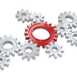 Gears intersecting