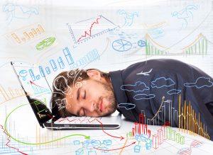 Man experiencing job exhaustion