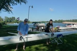 Alan and Jacob, goals rowing